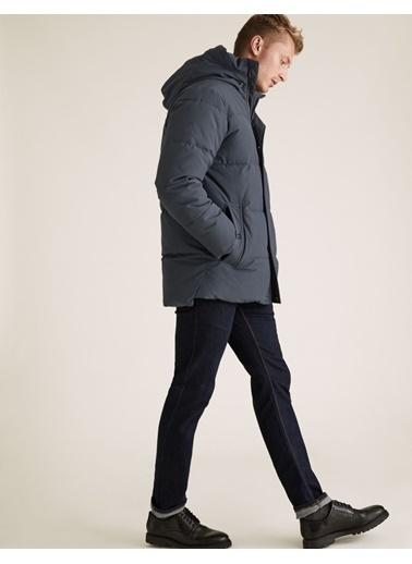Marks & Spencer Stormwear™ Kapüşonlu  Pufa Mont Mercan